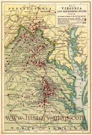 West Virginia Road Map by War Battles In Virginia