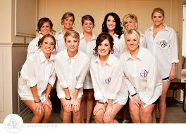 button up shirts for bridesmaids that way they don u0027t mess up