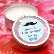 baptism favors personalized christening baptism travel candle tins christening