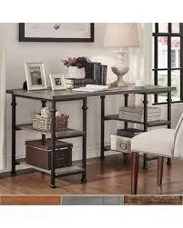 amazing deal on myra vintage industrial storage desk bistre brown