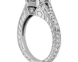 moissanite vintage engagement rings deco moissanite etsy