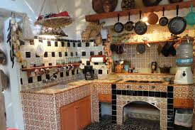 mexican decor for home kitchen ideas brown wooden kitchen island kitchen blue cabinets
