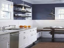 kitchen navy blue kitchen beadboard kitchen walls contemporary