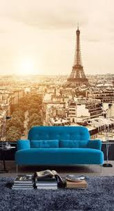 Paris Wallpaper For Bedroom by Paris In Your Lounge Room Removable Fabric Wall Paper