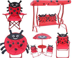 Kids Patio Chairs by Leisure Ways Brands Kids Ladybug Outdoor Furniture Growing Your