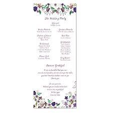 purple wedding programs sorelle paper prints wedding programs purple flowers program