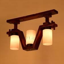 wood flush mount ceiling light three light wooden fixture classic semi flush mount ceiling lights