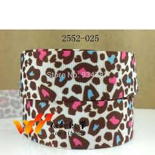 leopard ribbon leopard ribbon zebra ribbon free shipping 50 yards printed