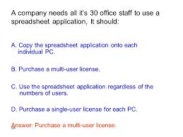 Multi User Spreadsheet It Exercises Ppt
