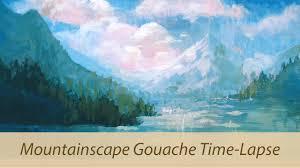 mountain landscape acryla gouache color study youtube