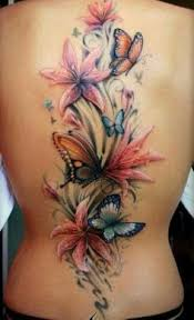 tiger butterfly flowers design
