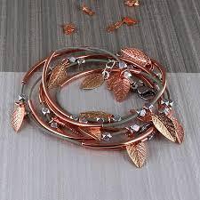 gold leaf bracelet images Skinny rose gold leaf noodle bracelet by francesca rossi designs jpg