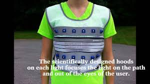 cycling jacket with lights led light vest video best lighted vest on the market youtube