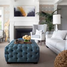 Blue Ottoman Coffee Table Tufted Ottoman Living Room Contemporary With Blue Ottoman Beach