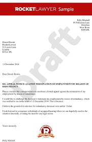 brilliant ideas of sample appeal letter for employment termination