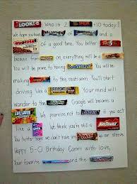 candy for birthdays candy birthday cards js0cfvdsk 50th birthday gift ideas
