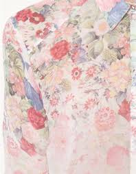 floral chiffon blouse shading floral printed chiffon leisure shirts blouse avery couture