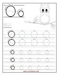 free printable letter o tracing worksheets for preschool free