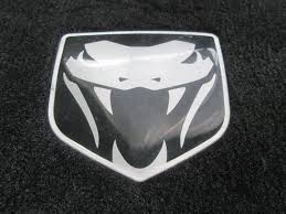 dodge viper logo set of 3 premium trunk cargo carpet black viper logo oem dodge