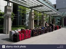 Suitcases Suitcase Queue Line Luggage Suitcases Lined Up For Travel In