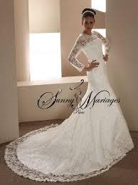 robe de mariã e manche longue dentelle robe de mariée avec manche mariage