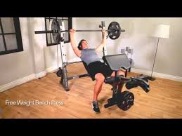 Marcy Bench Press Set Marcy Diamond Olympic Weight Bench Reviews Youtube