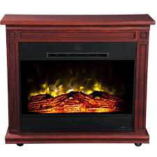 Amish Made Electric Fireplaces by Heat Surge 30000525 Roll N Glow Electric Fireplace Cherry