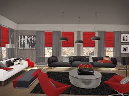 Furniture For A Living Room Red And Black Furniture For Living Room For A Modern Penthouse