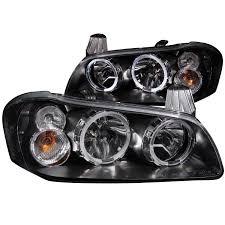 white nissan maxima 2003 anzo usa nissan maxima 02 03 crystal headlights black w halo