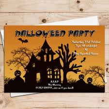Haunted House Halloween Party by 10 Personalised Haunted House Halloween Party Invitations N6