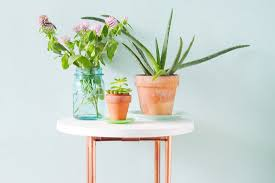 this diy copper pipe side table is perfect for small spaces brit