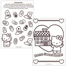 amazon com hello kitty 144 page coloring u0026 activity book with