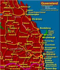 map of queensland south east queensland map