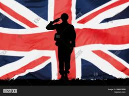 Flag Of The Uk Silhouette Solider Saluting Front Image U0026 Photo Bigstock