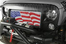 2017 jeep wrangler rugged exterior spartan grille kit american flag 07 15 jeep wrangler jk