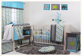 Crib Bedding Sets Bacati Elephants Aqua Lime Grey 10 Pc Crib Set Including Bumper Pad