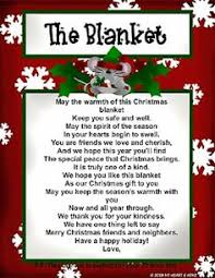 christmas gift idea cute poem to give with a blanket christmas