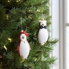 european glass chic penguin ornament set pier 1 index