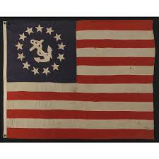 American Flag 1845 Jeff Bridgman Antique Flags And Painted Furniture 13 Star