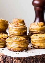 crispy parmesan potato stacks recipe simplyrecipes com