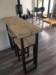 Oak Breakfast Bar Table Reclaimed Wood Breakfast Bar And Two Stools Www Reclaimedbespoke