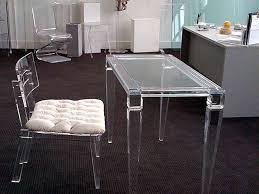 Clear Vanity Table Clear Vanity Table And Clear Chair With White Seat Kiakiyo