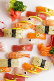 japanese food sashimi and nigiri sushi platter stock photo image