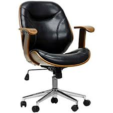 Desk Chair Modern Baxton Studio Rathburn Modern Office Chair Walnut