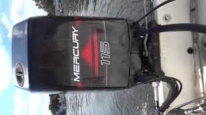 idle on mercury 115hp 2 stroke oil injected outboard motor youtube