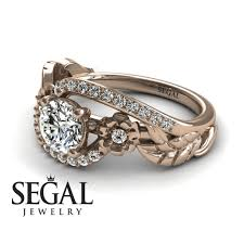 nature inspired engagement rings nature engagement ring 14k gold 0 84 carat cut