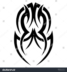 tribal tattoo art designs sketched simple stock vector 685658554