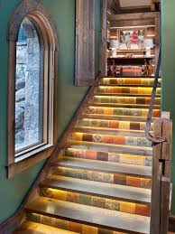 decorating rustic staircase with floor tiles stairs and stair
