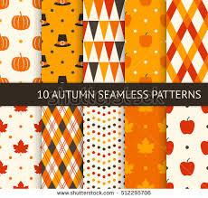 vector set autumn seamless patterns give stock vector 210645202