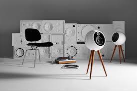 speaker design bossa moonraker retro futuristic stereo speaker system design milk